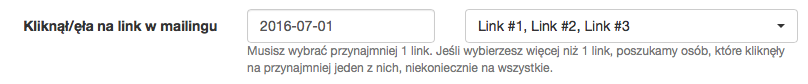Filtr - kliknięcia w mailingu