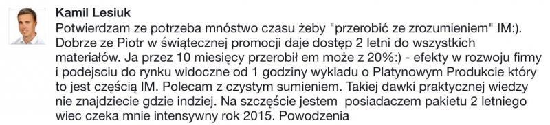 Opinia Kamil Lesiuk