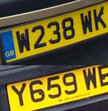 tablica rejestracyjna Wielka Brytania