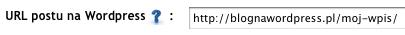 URL postu na Wordpress