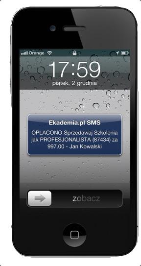 SMS do organizatora