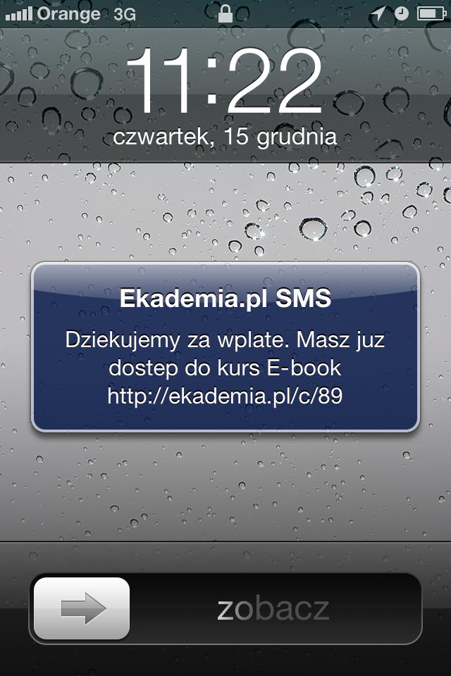 SMS Dziękujemy za wpłatę