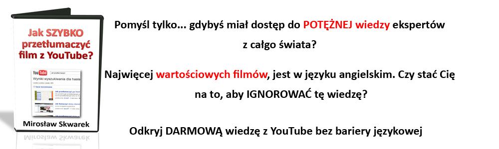 Jak szybko przetłumaczyć film z YouTube